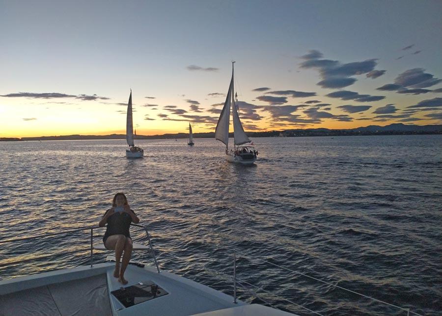 camino de santiago en barco de vela