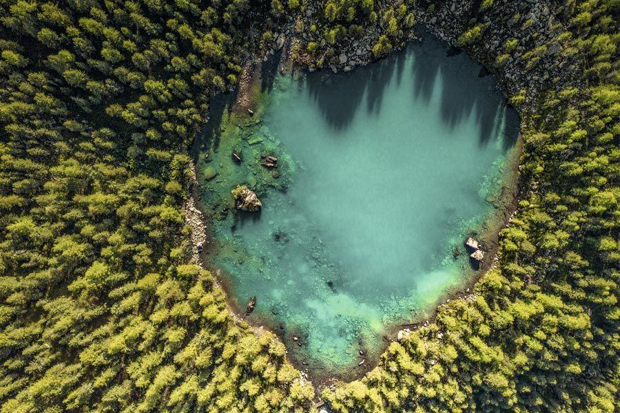 vista del lago di saoseo