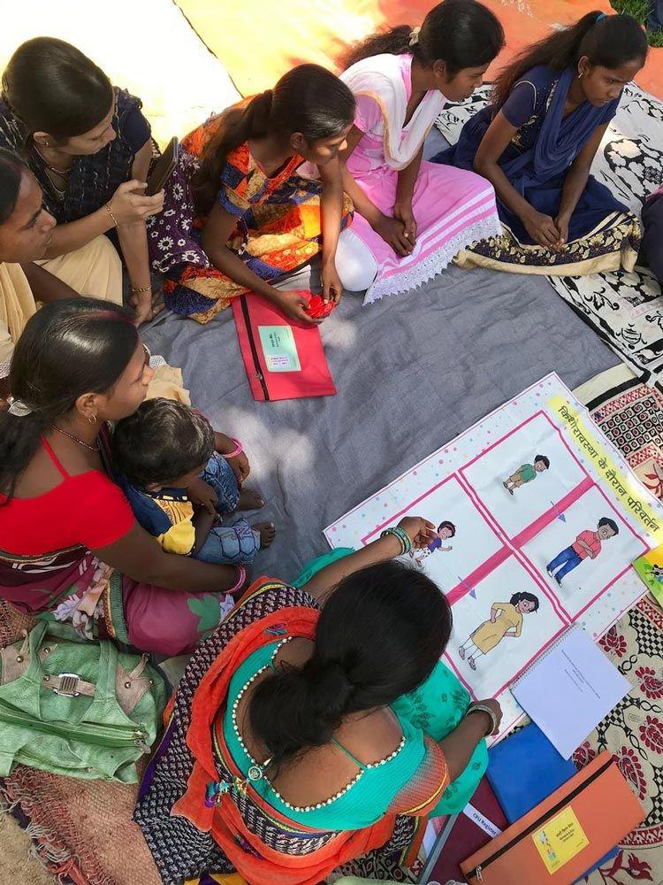educacion menstrual ninas india