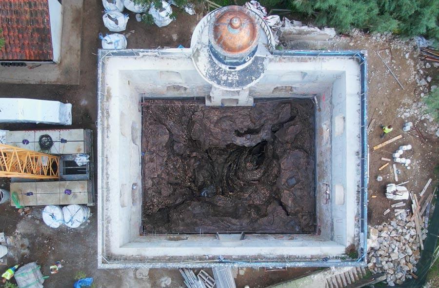 vista aerea del faro de santa clara