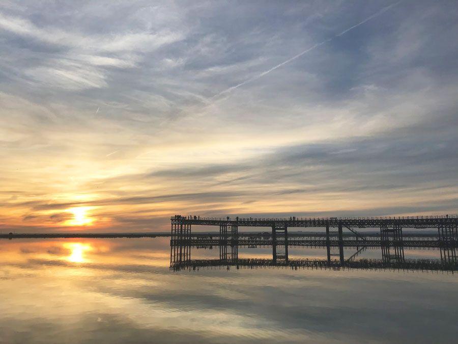 puesta de sol en Huelva