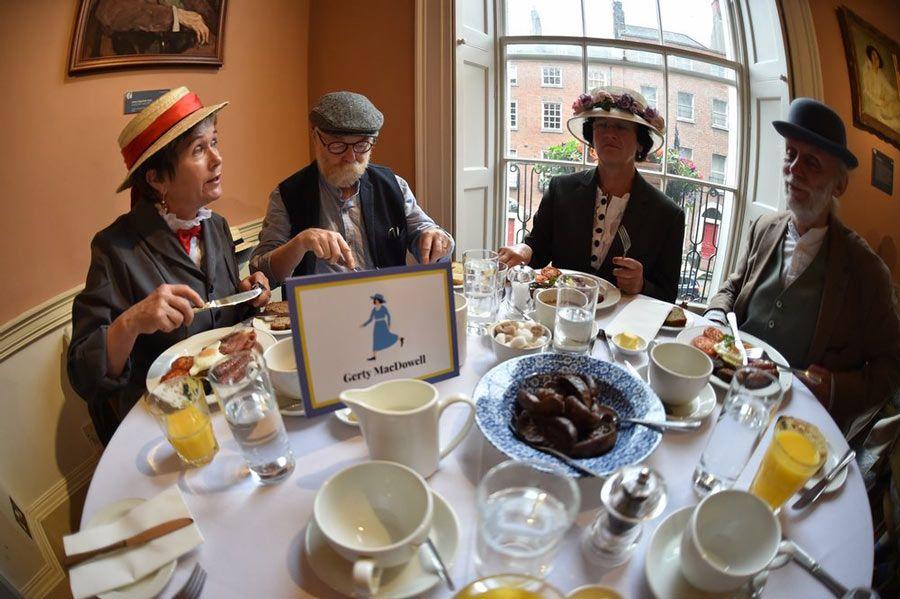 desayuno James Joyce Cultural Centre de Dublín