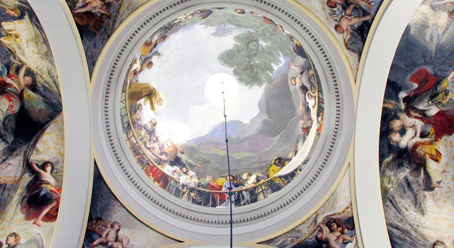 frescos de goya en ermita san antonio de la florida