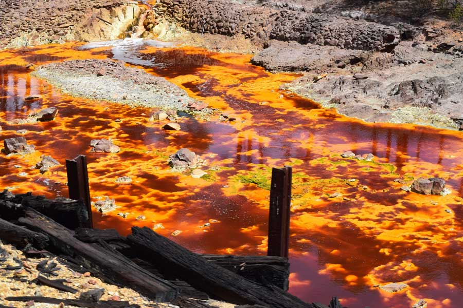 agua en las minas de Riotinto