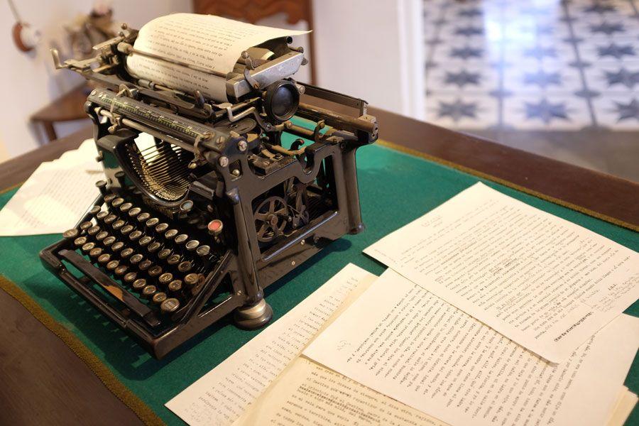 máquina de escribir en la casa museo de juan ramón jiménez
