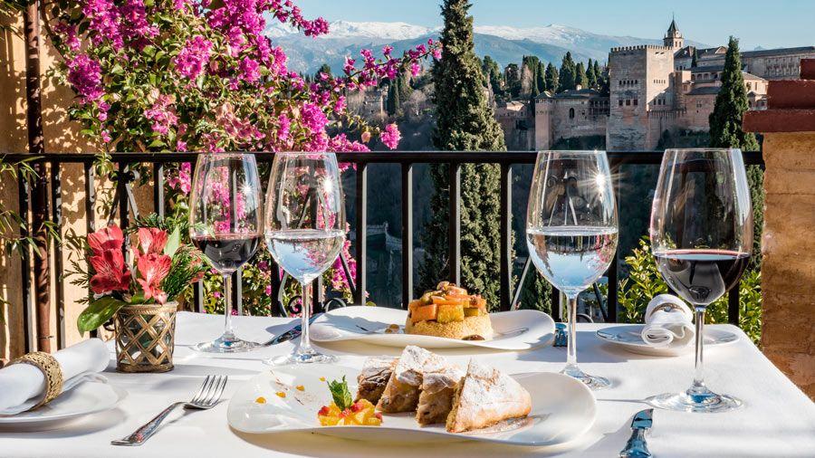 comida vistas alhambra