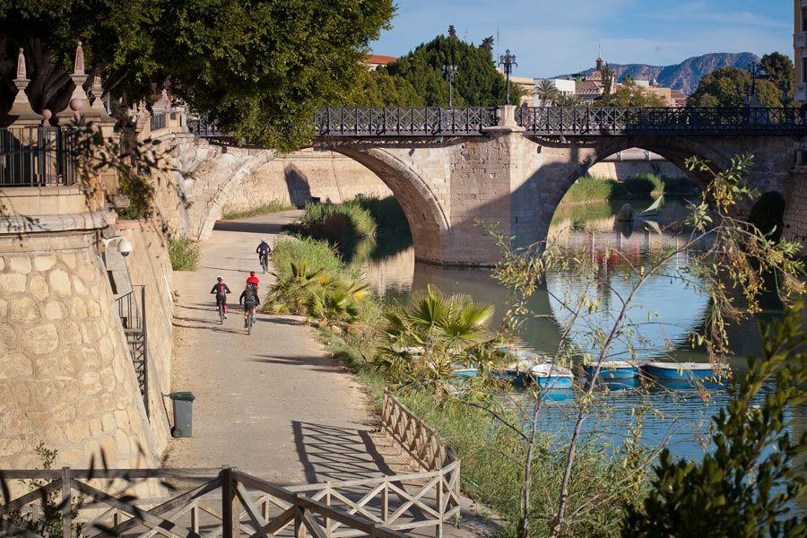 paseo ciclismo rio segura murcia