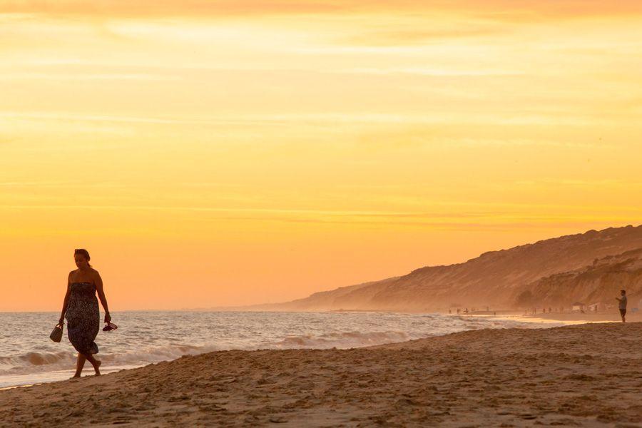Atardecer en la playa de Matalascañas.