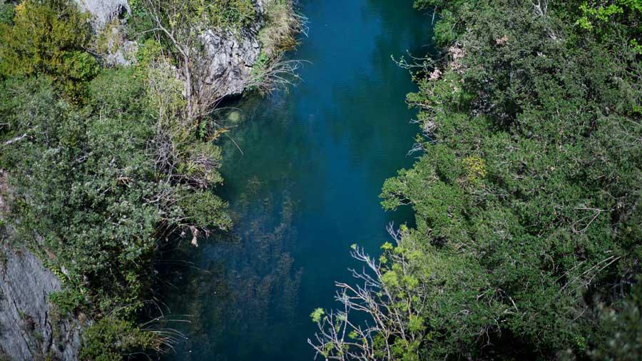 Río Guadalquivir a su paso por la Sierra de Cazorla.