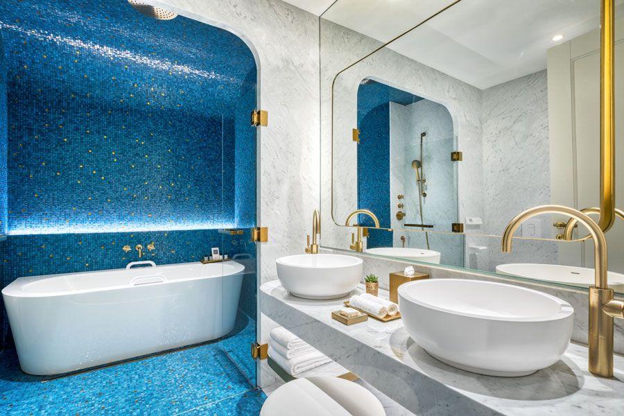 Baño de la Habitación Deluxe.