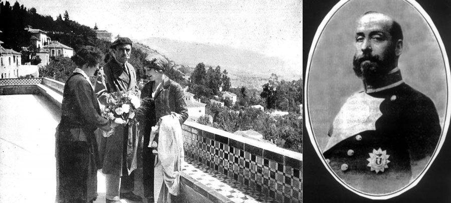 A la izq. los actores Douglas Fairbanks y Mary Pickford. A la derecha el Duque de San Pedro de Galatino.