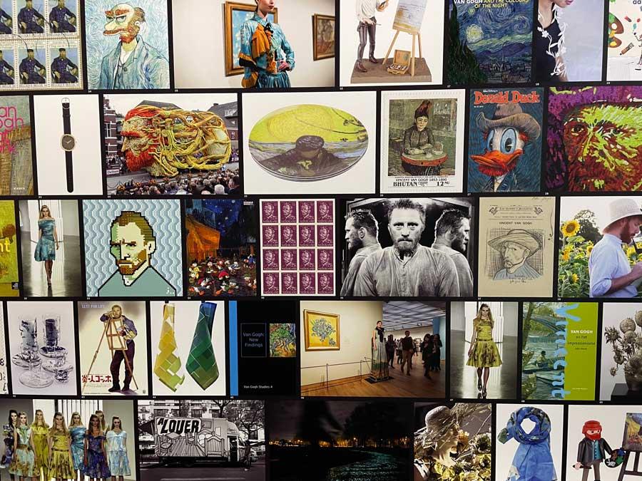 Detalle de la exhibición Meet Vicent van Gogh.