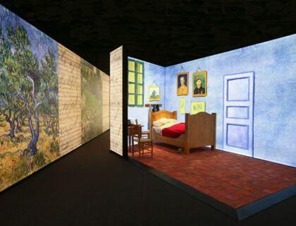 Recreación del dormitorio de Van Gogh.
