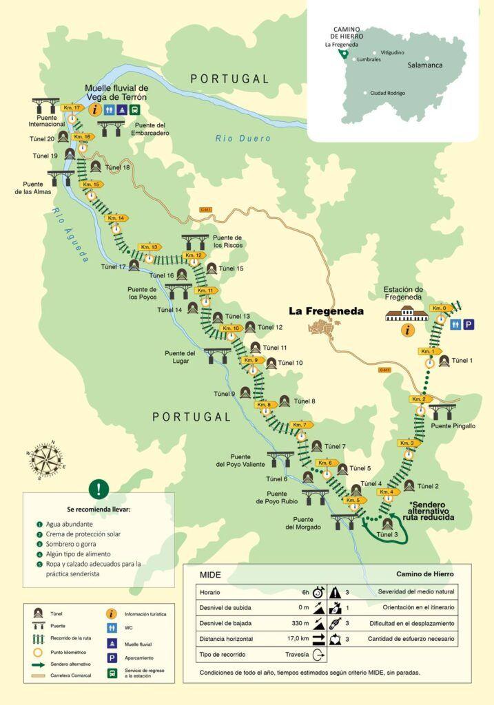 mapa camino de hierro salamanca